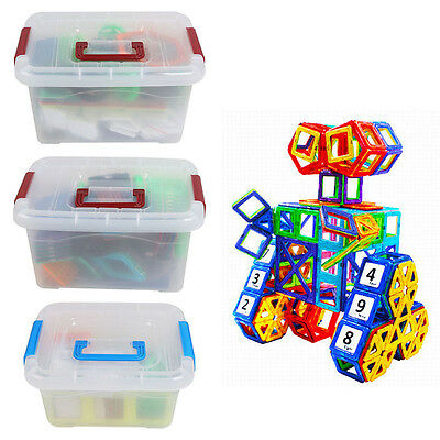 Kids Magnetic Blocks Construction Building Toy Puzzle Educational Toy with Box