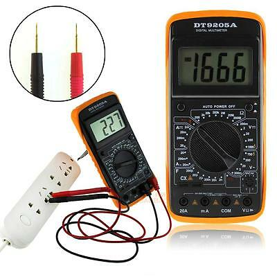 LCD Digital Multimeter Professional Electric Handheld AC DC Ammeter Tester Meter