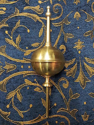 New Longcase Brass Small/Squat Finial