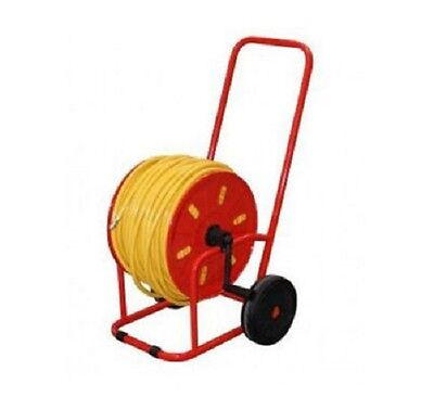 Professional Metal Hose Reel Cart with 100m of 8mm Hose - Window Cleaning