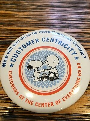 Peanuts Charlie Brown Snoopy Rare Button - Customer Centricity