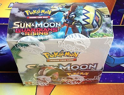 Pokemon GUARDIANS RISING Booster Box Display 36 packs *EMPTY NO CARDS Decoration