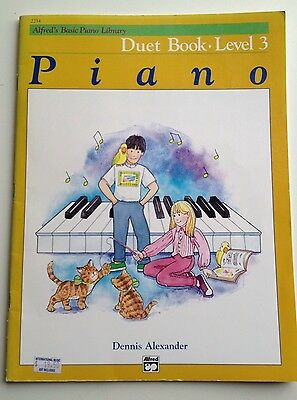 Alfred's Basic Piano Library, Duet Book Level 3, Used Good Condition