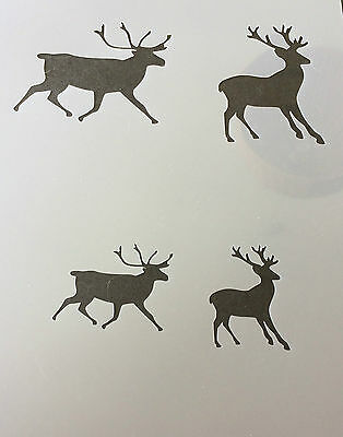 Stags Pair Mylar Reusable Stencil Airbrush Painting Art Craft DIY home