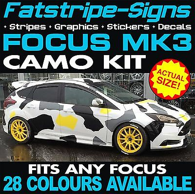 Ford Focus Mk3 Camo Graphics Stickers Stripes Decals Zetec St Rs Turbo 2.0