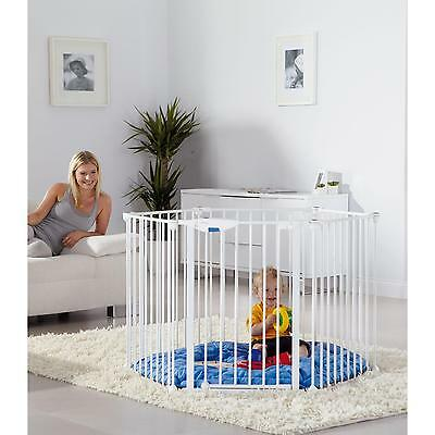 Lindam Safe & Secure metal play pen with mat / room divider / fire guard