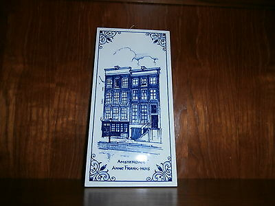 Royal Mosa Holland Delft Blue Tile Amsterdam Anne Frank - Huis House