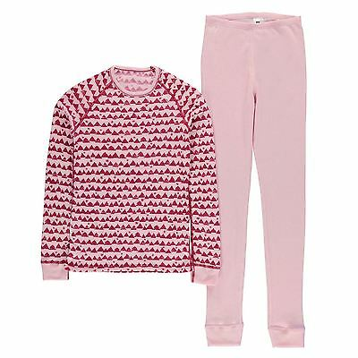 Odlo Niños Warm Conjunto Chicos Thermal Baselayer Manga Larga Top Pantalones