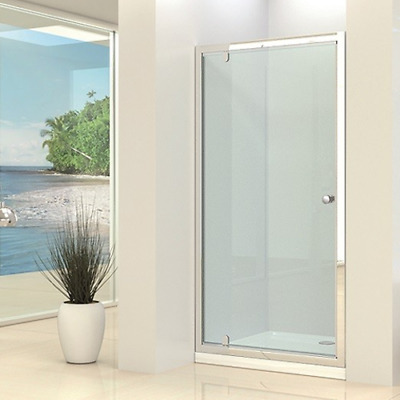 Pivot Shower Door Hinged Enclosure Screen Safety Glass Chrome 760 800 900mm