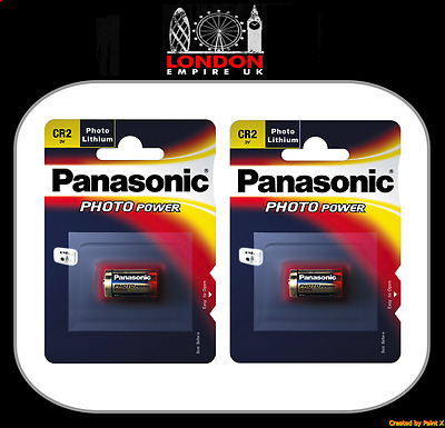 2 x Panasonic CR2 Lithium Photo Battery 3V DLCR2 KCR2 CR17355 Camera