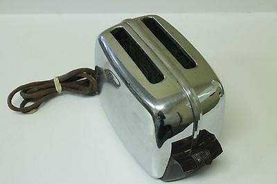 Vintage Toastmaster Automatic Pop Up Toaster Chrome Silver Model 1B14 - Tested
