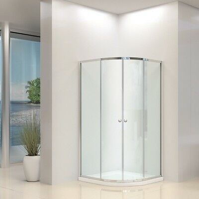 Quadrant Shower Enclosure Walk In Corner Cubicle Glass Screen Door Tray Waste