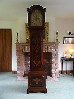 Remarkable George Iii Mahogany Marquetry Inlaid Longcase Clock - Good Provenance • £4,650.00