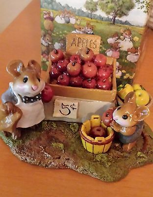 "Wee Forest Folk M-187 ""Adam's Apples""  RETIRED Mint"