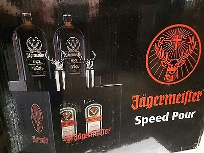 Jagermeister Speed Pour and Tap Shot Machine 2 Bottle Dispenser