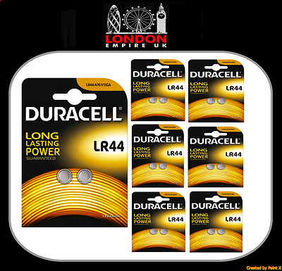 12x Duracell LR44 Alkaline Button Cell Batteries Hexbug 1.5V LR 44 A76 AG13 357