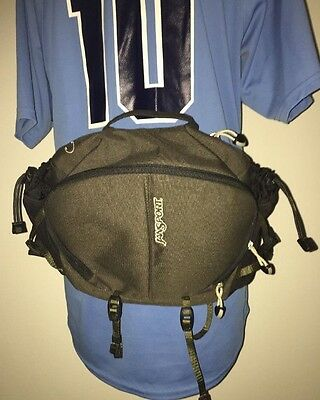 JanSport Fanny Pack Green Hiking Cycling Waist Belt Bag Day Camping workout TTOO