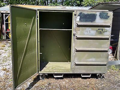 64 x 56 x 29 Aluminum Bin Cargo Mobility Shipping Container Storage Military