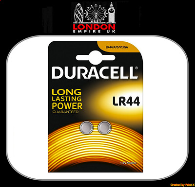 2x Duracell LR44 Alkaline Button Cell Batteries Hexbug 1.5V LR 44 A76 AG13 357