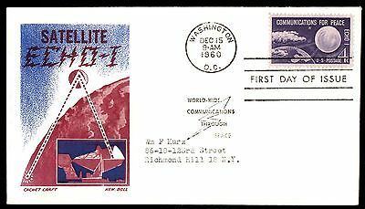 1960 SATELLITE ECHO 1 4c KEN BOLL FDC First Day COVER
