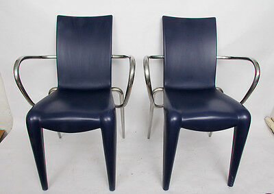 2x Design Stuhl mit Armlehne Louis 20 by Philippe Starck for vitra