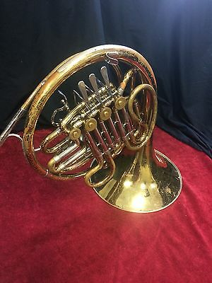 F.E. Olds Double French Horn W Case
