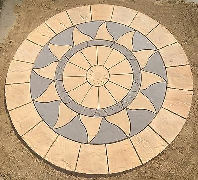 3.46M Aztec Sun Circle Patio Paving Stone Slabs Free Delivery Note Exceptions