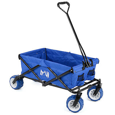 Folding Camping Festival Trolley Portable Carry Cart All Terrain Beach Wagon