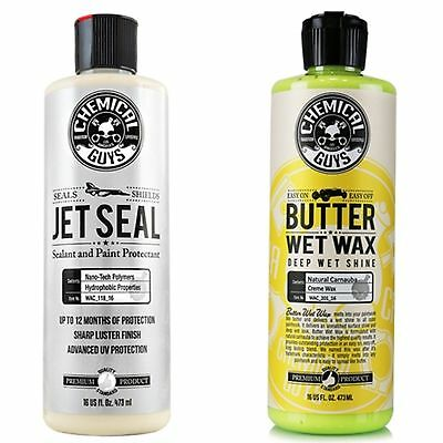 Chemical Guys Butter Wet Wax & Jet Seal + FREE PAIR OF RUBBER GLOVES!