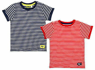 Boys Baby Toddler Pack of 2 Nautical Stripe Ahoy T-Shirts Newborn to 24 Months