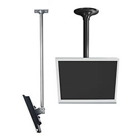 LCD Ceiling Mount w/ Cable Management, Silver