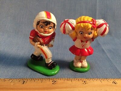 "Lot Of 2 1985 Campbell Soup Mascot 2"" Mini PVC Figures Promotional Football"