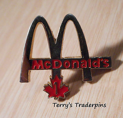 McDonalds Restaurant Pin Golden Arches Canada Lapel Hat Pin