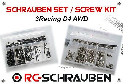 Screw Set for the 3RACING SAKURA D4 AWD - Stainless Steel or Steel - Is / ISK