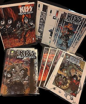 KISS Psycho Circus LOT of ( 11 ) Image COMIC Books F-NM All First Printing