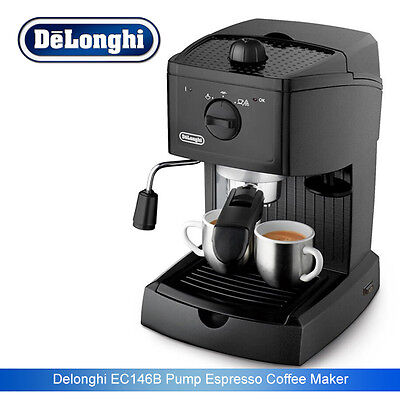 BD DeLonghi EC146.B Traditional Pump Espresso Coffee Machine 15 bar Black