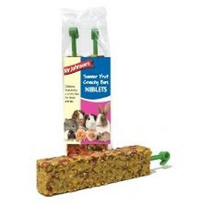 Mr Johnsons Summer Fruit Bars 2 Pack x 2 Small animal treat food chew rabbit
