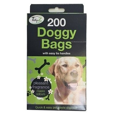 BLACK SCENTED DOGGY BAGS - Scented Pet Poo Waste Toilet Bags For Dogs & Cats