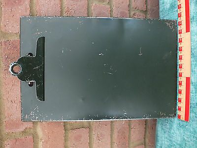 Excellent Vintage Industrial All Metal Clip Board - Made In England