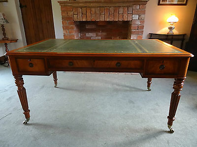 5X3Ft Gillows Quality Regency Revival Flame Mahogany Partners Writing Table Desk