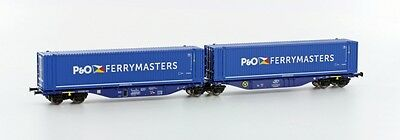 TT Containerwagen Sggmrs 2x45'' Container P&O Ep.VI Hobbytrain 70507 OVP