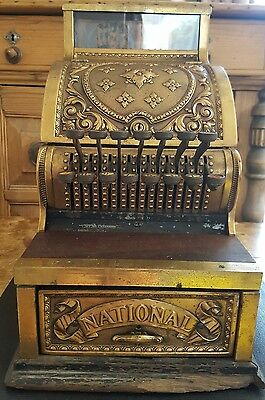 Antique NCR Dayton Ohio Brass Candy Store Barbers Cash Register Till