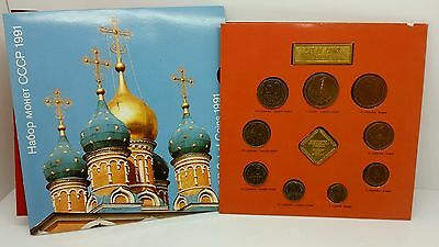 1991 Russia Ussr Cccp Soviet Union - Official Proof Like Set (9) Mint