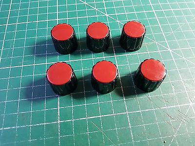 6 x High Quality Rotary Switch / Potentiometer Knobs