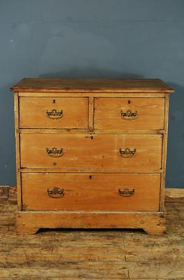 Antique Edwardian Stripped Pine Chest of Drawers