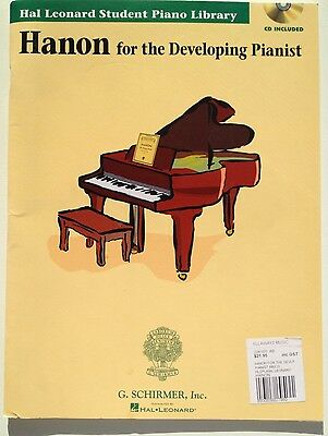 Hanon For The developing pianist, Used Condition But Unused, Hal Leonard With CD