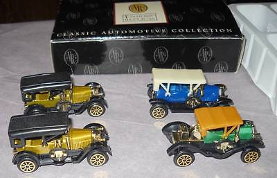 Vintage Replicas Classic Automotive Collection Of 4.  New In Box.
