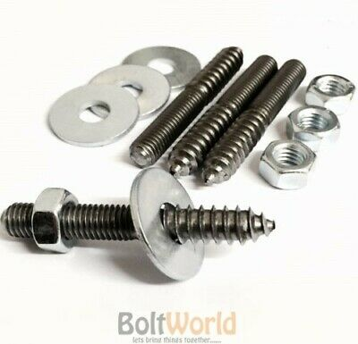 WASHERS M10 FURNITURE FIXING WOOD TO METAL DOWELS WALL HANGER BOLTS NUTS