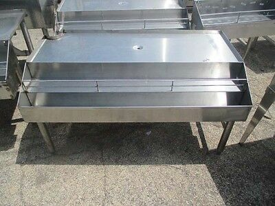 "46"" Stainless Steel Back Bar Glass Drainboard with Double Speed Rail"