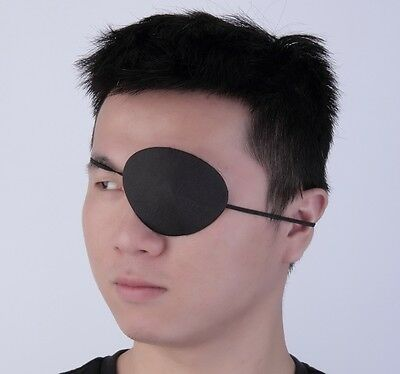 Black Medical Use Concave Eye Patch Groove Washable Eye shades Adjustable Strap